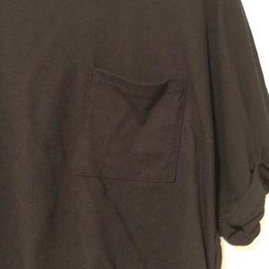 Topshop Tops - Black cropped T-shirt